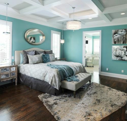 Komponente der Renovierung zu Hause schlafzimmer blau farben