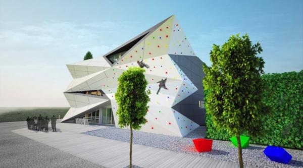 Kulturzentrum Sportzentrum kletterwand entwicklung