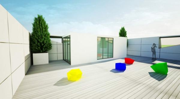 Kulturzentrum und Sportzentrum wiedergabe bunt sitzplatz dach