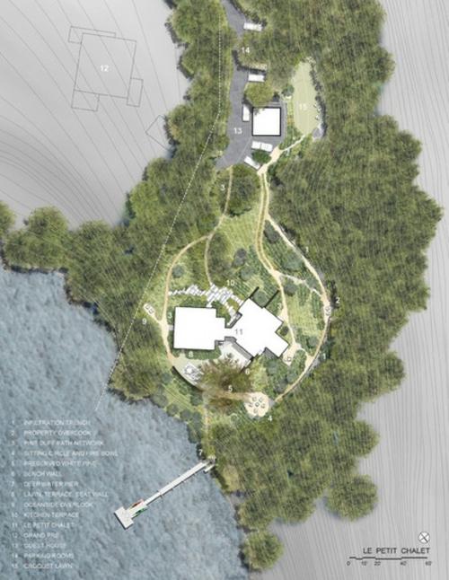 Landschaftsarchitektur und Design mit nachhaltig gewonnenem Holz entwurf