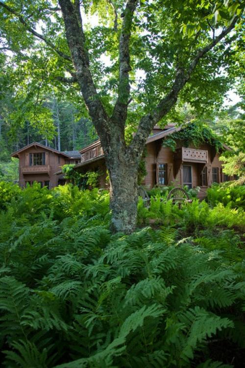 Landschaftsarchitektur und Design mit nachhaltig gewonnenem Holz haus