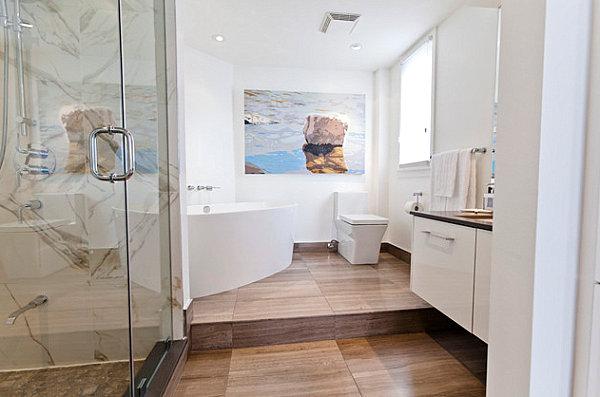 Luxus Badezimmer Ideen auffallend kunstwerk gemälde