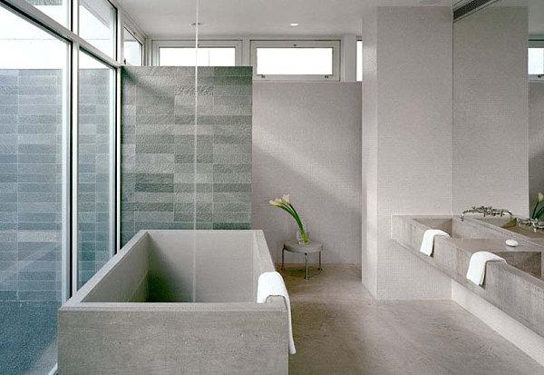 Luxus Badezimmer Designs badfliesen badewanne blumen frisch lilien