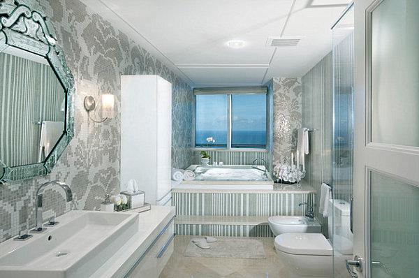 Bad 2  (Obergeschoss) Luxus-Badezimmer-Designs-badfliesen-modern-einrichtung-frisch-look