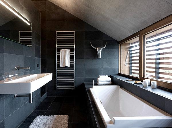phantastisch luxus badezimmer modern schwarz empfngnis