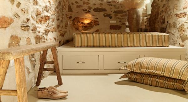 Luxus Designer Wohnungen matratze bettgestell schubladen sitzbank  rustikal