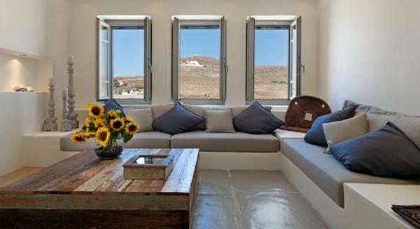 Luxus Designer Wohnungen sofas kissen auflagen massiv holztisch