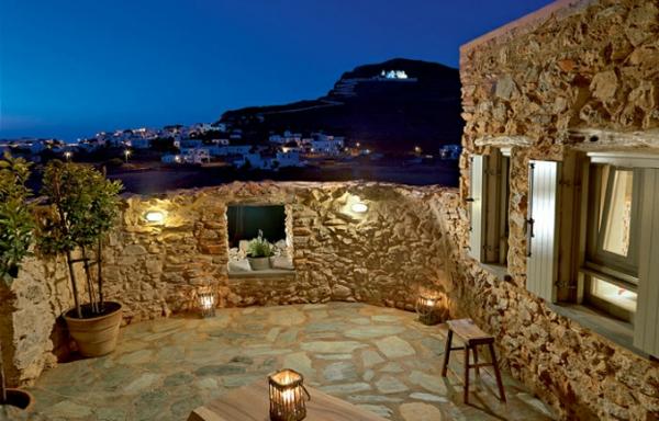 Themonies luxus designer wohnungen in folegandros, griechenland