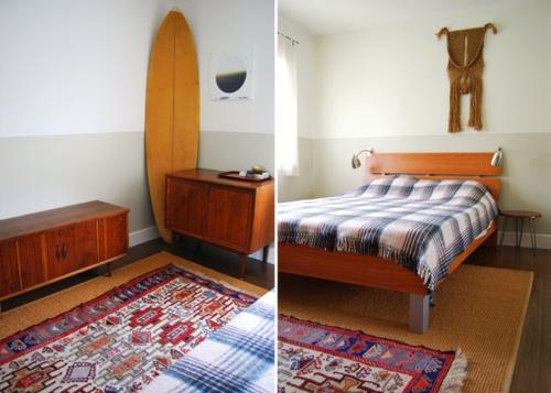 Makramee Dekoration schlafzimmer traditionell holz möbel