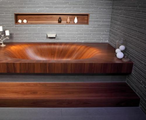 Laguna Moderne Badewanne Aus Holz Von Alegna Designer Badewannen Moderne Bad