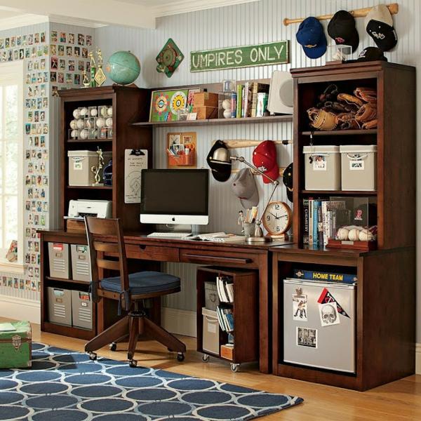 Ordnung zu Hause schaffen kinderzimmer schreibtisch büro holz