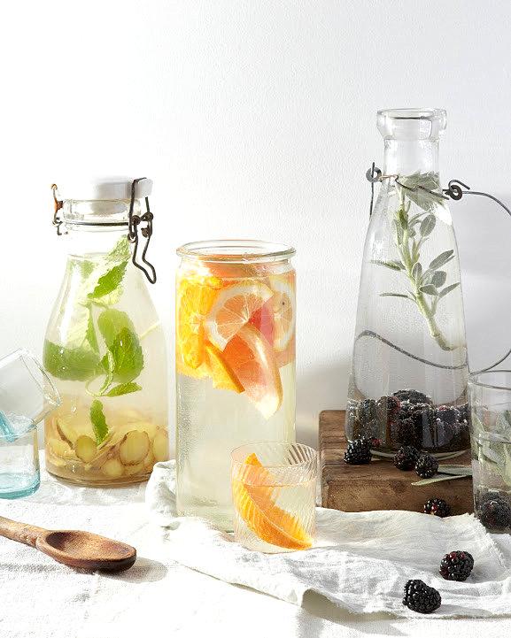 Party Bilder wasser früchte glas flaschen