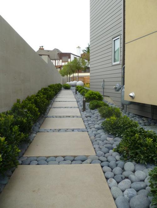 Schöne Gartengestaltung und Landschaftsbau pflaster platten steine fußweg