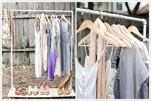 Schicke Kleiderständer Kleiderbügel Anzeigen Idee Draußen