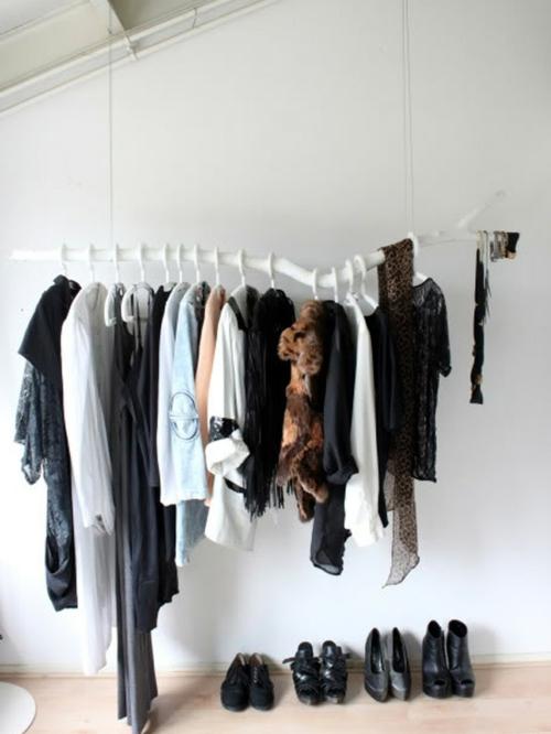 schicke kleiderst nder als moderne kleiderablage. Black Bedroom Furniture Sets. Home Design Ideas