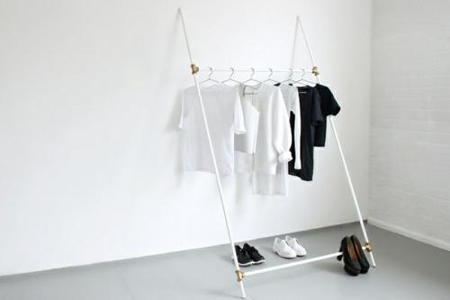 Kleiderständer Weiß Metall schicke kleiderständer als moderne kleiderablage