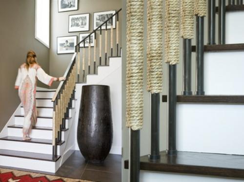 Bodenvase Deko Ideen : Seil Dekoration passt zu jedem Raum treppe ...