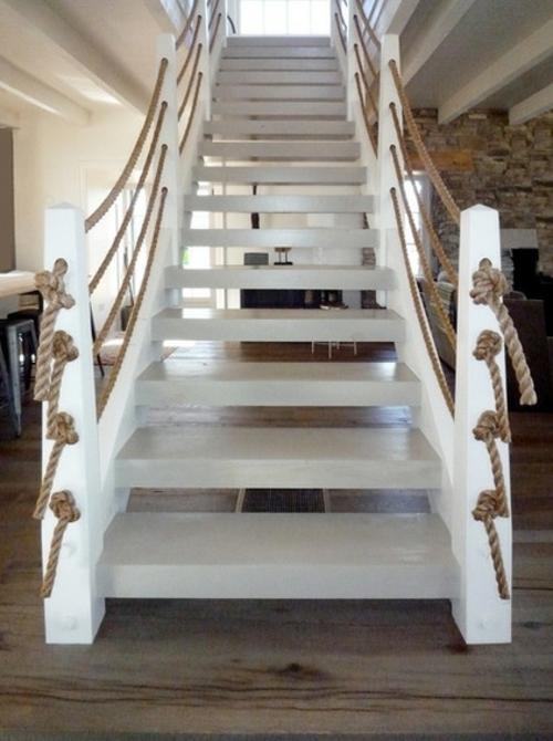 Seil Dekoration passt zu jedem Raum treppe geländer weiß
