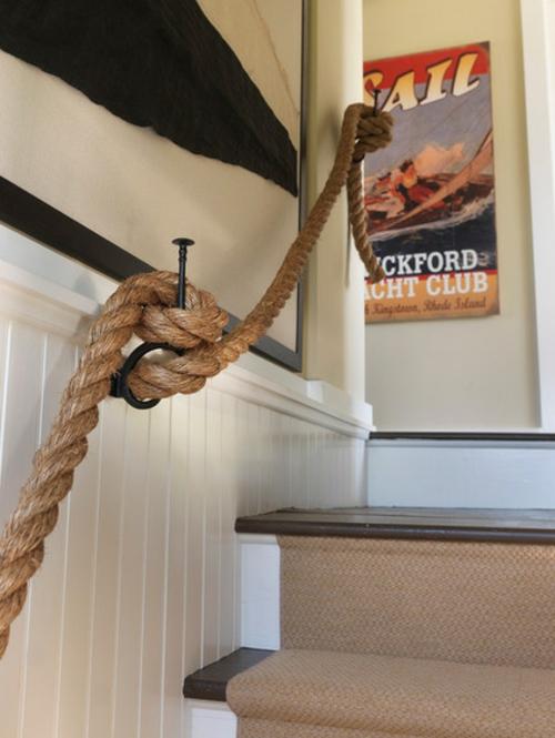 Seil Dekoration passt zu jedem Raum treppe geländer