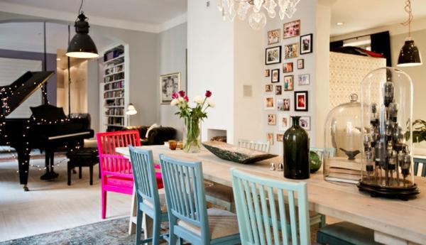 bunte stühle für wohnzimmer | möbelideen, Wohnzimmer dekoo