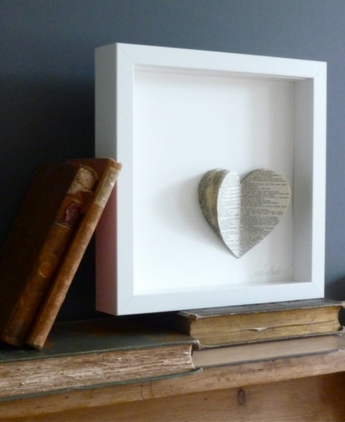 Souvenirs ihrer Hochzeit papier herz rahmen dekoration