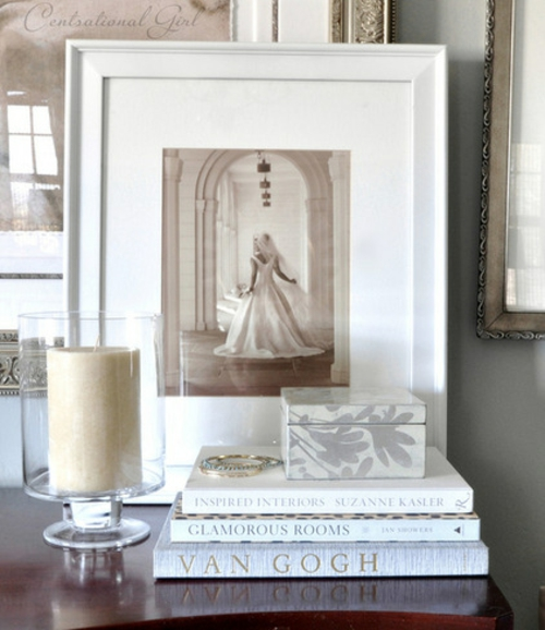 Souvenirs ihrer Hochzeit papier herz rahmen glas kerzen