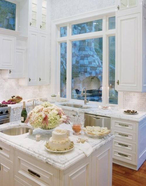 Souvenirs ihrer Hochzeit papier herz spüle küche arbeitsplatte
