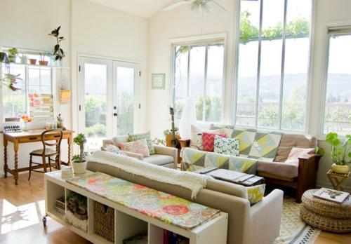 Sparsame Dekoration zu Hause wohnbereich helle farben eklektisch