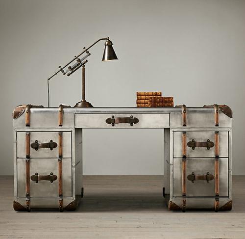 Vintage Schreibtische in Ihrem Homeoffice  Büro metall schubladen