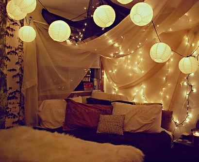 15 coole deko ideen für weihnachtsbeleuchtung im schlafzimmer - Weihnachtsbeleuchtung Im Schlafzimmer