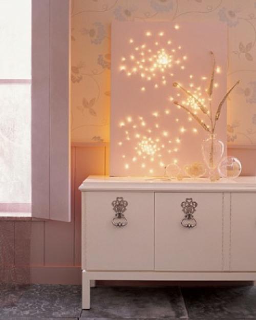 Weihnachtsbeleuchtung im Schlafzimmer kommode weiß