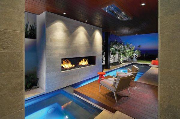 awesome eine feuerstelle am pool contemporary - home design ideas ... - Eine Feuerstelle Am Pool
