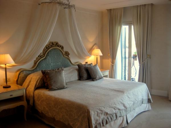attraktives gästezimmer design mit betthimmel romantisch