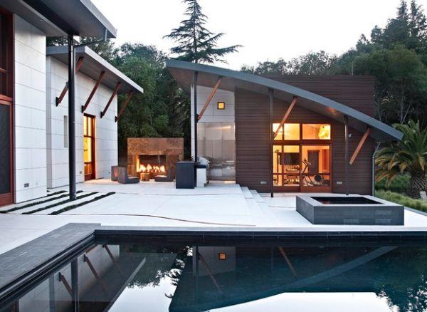 outdoor inspiration hinrei ende wohnideen f r feuerstellen am pool. Black Bedroom Furniture Sets. Home Design Ideas