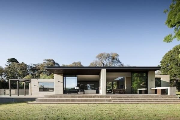 australisches haus design einstöckig saubere linien