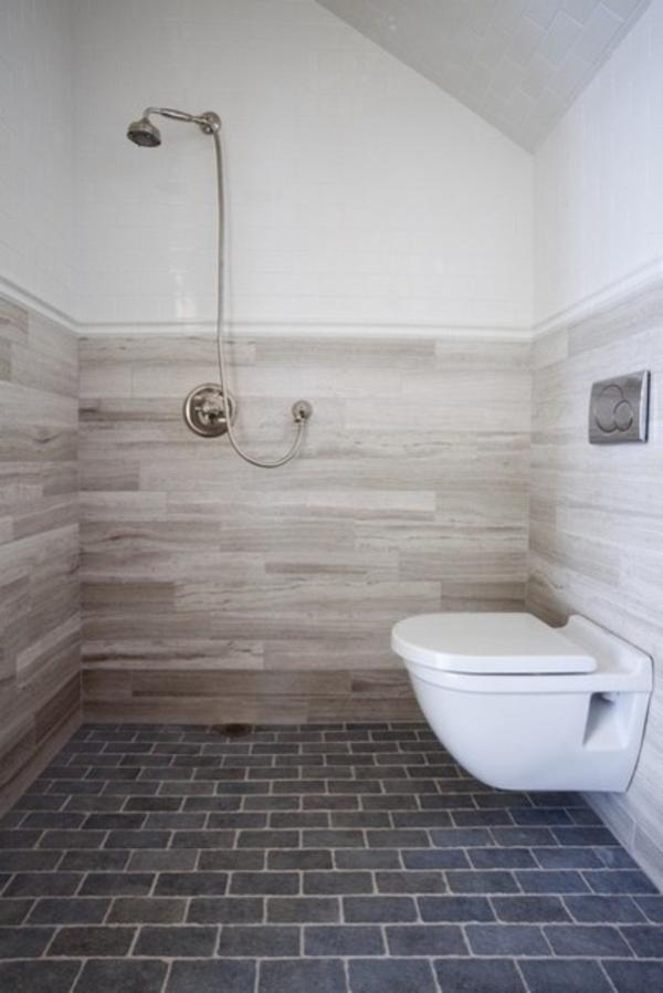 Badezimmer renovierung wandfliesen mit holzoptik