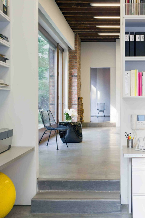 brooklyn studio loft smale stufen zum arbeitszimmer