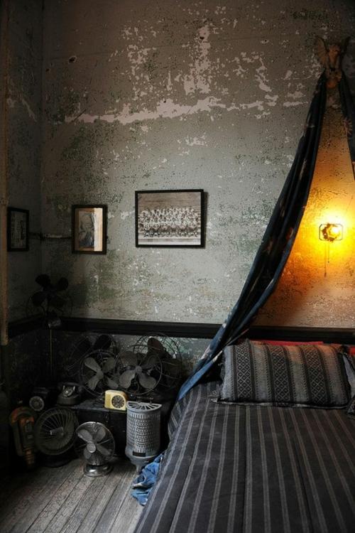 coole Grunge Interior Designs schlafzimmer himmelbett oriantalische motive