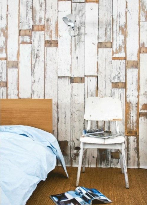 coole Grunge Interior Designs schlafzimmer stuhl weiß abgenutzt platten