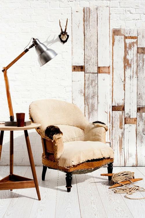 coole Grunge Interior Designs sessel vintage stil holz wandgestaltung