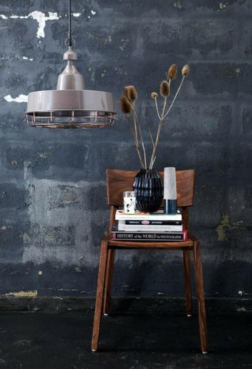 coole Grunge Interior Designs sessel vintage stil stuhl sachlich bücher