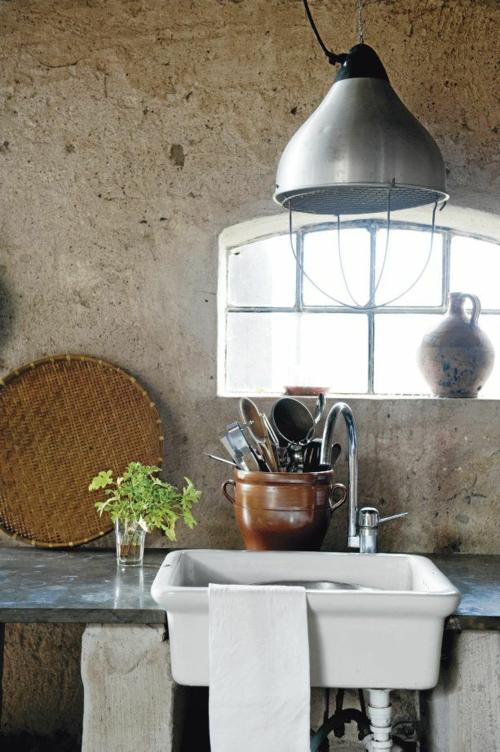 coole Grunge Interior Designs vintage rustikal stil spüle küche