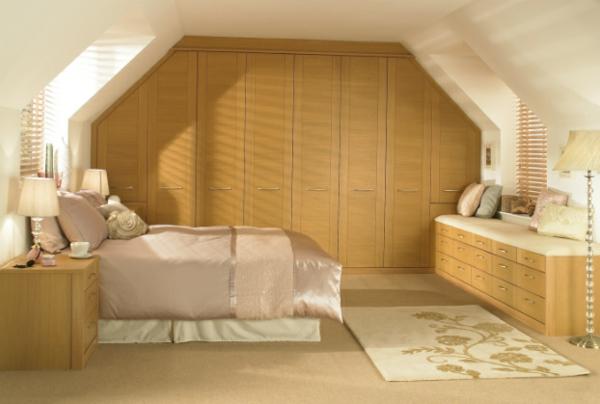 coole Ideen fürs Schlafzimmer Design warm braun nuancen kleiderschrank