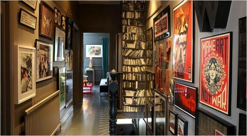 coole Tapetenmuster die Bücherregale flur übergang bilder