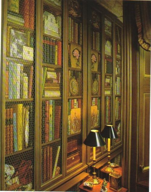 coole Tapetenmuster die Bücherregale nachmachen originell deko