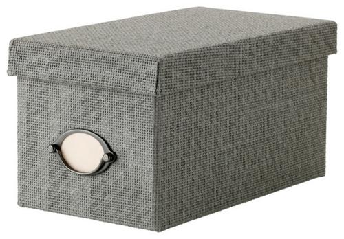 coole accessoires elegante aufbewahrungsbox in grau