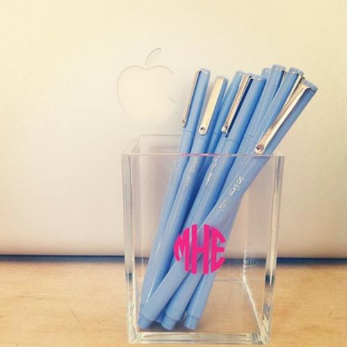 coole accessoires taubenblaue kugelschreiber