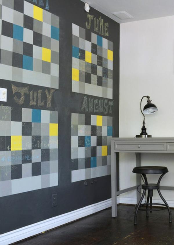 Das eigene b ro zu hause ruhiger und gem tlicher arbeiten - Wandgestaltung buro ...