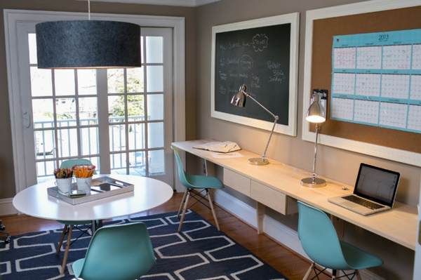 das eigene büro zu hause schlicht im ikea stil