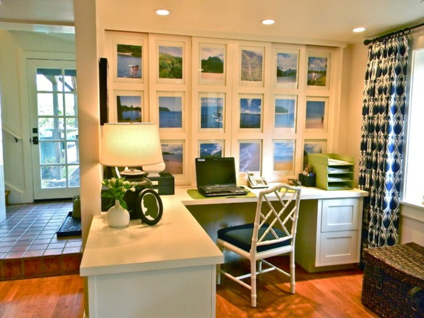 das eigene büro zu hause vintage stil mit grünen akzenten